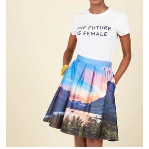 Modcloth Glacier National Park Skirt